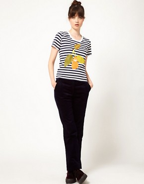 Image 4 ofPeter Jensen Striped Pear Tee