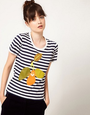 Image 1 ofPeter Jensen Striped Pear Tee