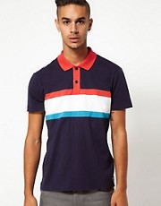 55DSL Polo Shirt Tilivo Stripe Contrast Collar