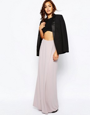 ASOS Maxi Skirt with Front Layer Panel