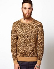 YMC Jumper with Leopard Print
