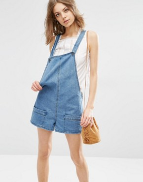 First & I Denim Pocket Playsuit