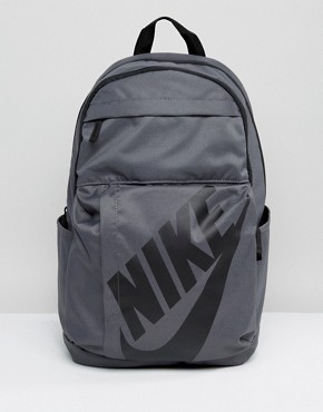 Nike Logo Backpack In Grey BA5381-020