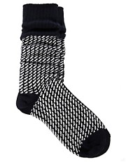 River Island Chunky Zig Zag Boot Sock