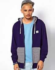 Makia Zip Thru Hoodie Stripe Pockets