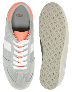 Image 2 of ASOS DALEY Trainers with Suede Detail