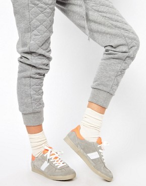 Image 3 of ASOS DALEY Trainers with Suede Detail