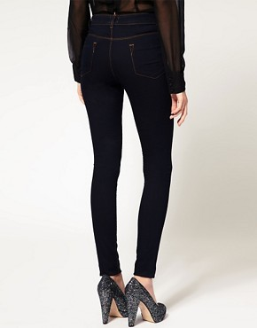 Image 2 ofASOS Supersoft High Waist Ultra Skinny Jeans in Indigo