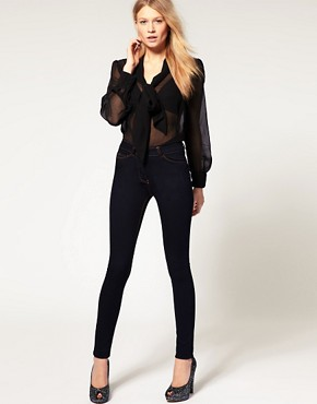 Image 4 ofASOS Supersoft High Waist Ultra Skinny Jeans in Indigo