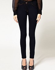 ASOS Supersoft High Waist Ultra Skinny Jeans in Indigo