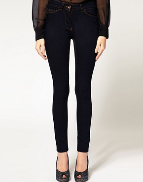 Image 1 ofASOS Supersoft High Waist Ultra Skinny Jeans in Indigo