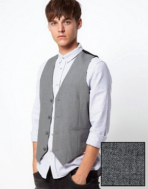 ASOS Waistcoat in Grey