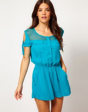 Image 1 ofSeventh Wonderland Amadora Silk Playsuit