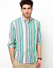 Gant Rugger Shirt with Multi Color Stripe