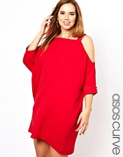 ASOS CURVE - Vestito svasato con spalle scoperte