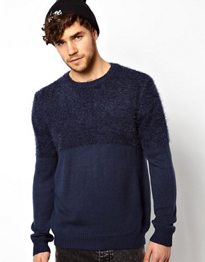 River Island Jumper with Textured Yoke
