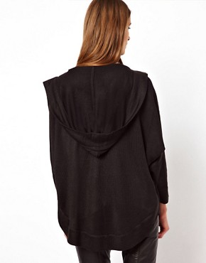Image 2 ofFactory By Erik Hart Hooded Poncho with Draped Front
