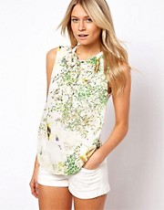 Ted Baker Blouse in Dancing Leaves Print
