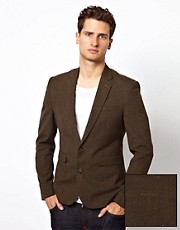 ASOS Slim Fit Suit Jacket in Check