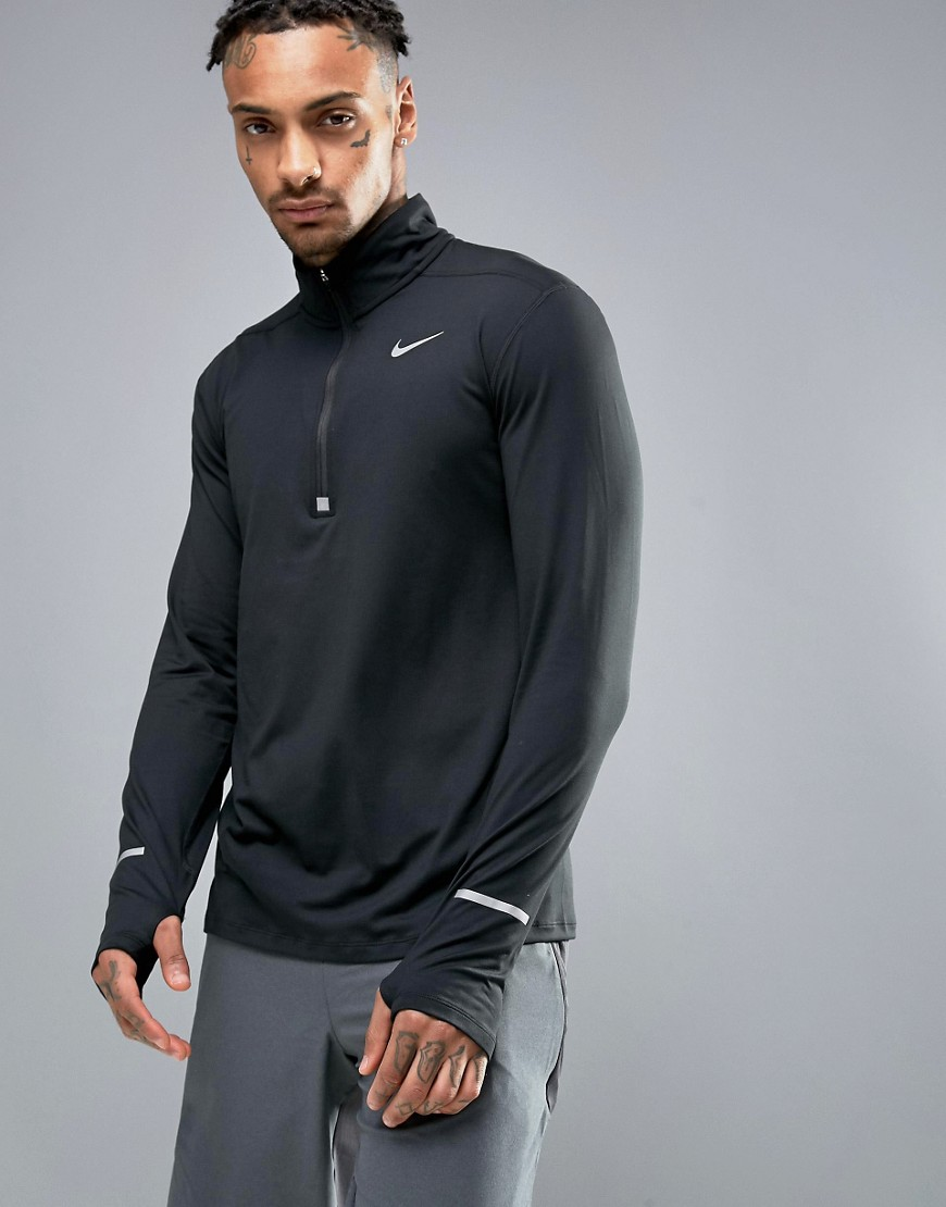 Nike Running Dri-FIT Element Half-Zip Sweat In Black 683485-010 - Black