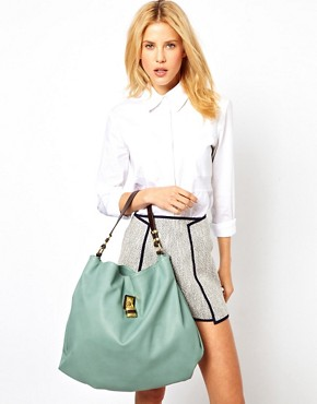Image 3 ofASOS Hobo Bag With Front Padlock