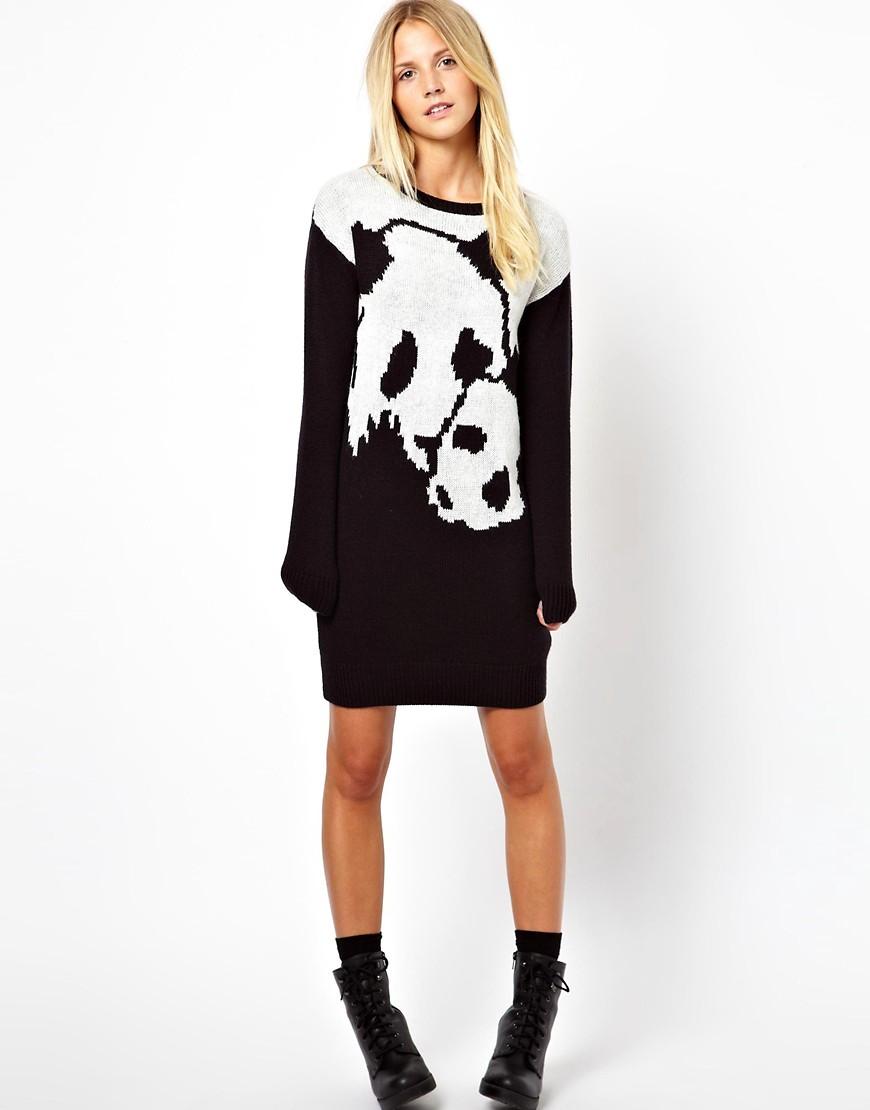 Image 4 ofASOS Panda Jumper Dress