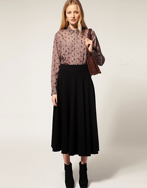 Image 1 ofFrench Connection Knit Full Circle Skirt