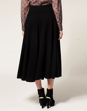 Image 2 ofFrench Connection Knit Full Circle Skirt