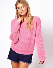 ASOS Rib Cropped Jumper