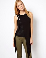 Karen Millen Top with Double Layer And Zip Detail