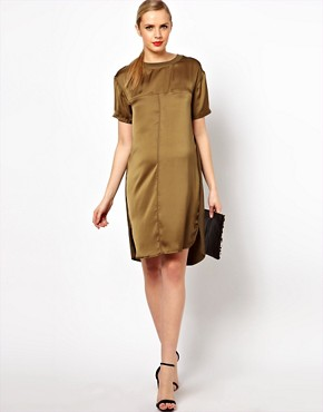 Image 4 ofASOS Maternity Dress With Silk Panel