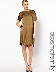 ASOS Maternity Dress With Silk Panel