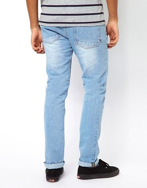 Image 2 ofBellfield Slim Fit Jeans With Tab Detail