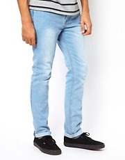 Bellfield Slim Fit Jeans With Tab Detail
