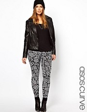 ASOS CURVE Legging In Graphic Print