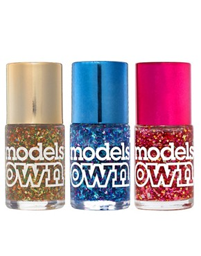 Image 1 ofModels Own ASOS Exclusive Mirror Ball Nail Polish Trio SAVE 20%
