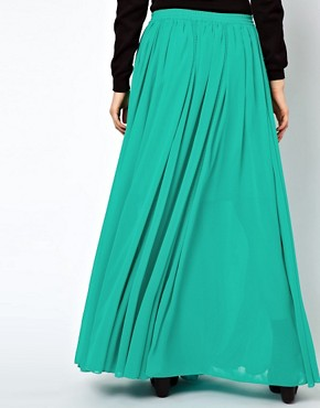 Image 2 ofASOS Maxi Skirt with Broderie Inserts