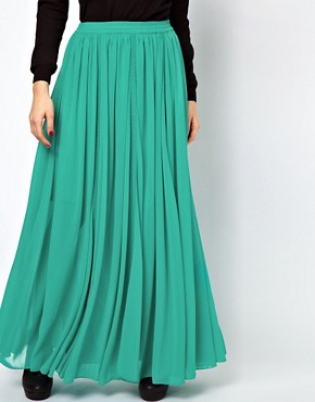Image 4 ofASOS Maxi Skirt with Broderie Inserts