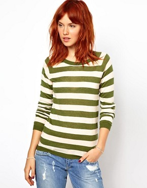 Image 1 ofGanni Merino Wool Mix Striped Sweater