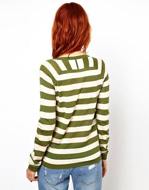 Image 2 ofGanni Merino Wool Mix Striped Sweater