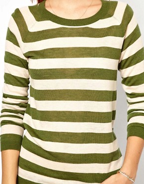 Image 3 ofGanni Merino Wool Mix Striped Sweater