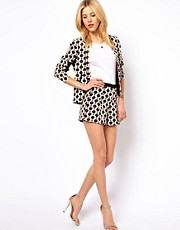 ASOS Soft Blazer In Geo Tile Print
