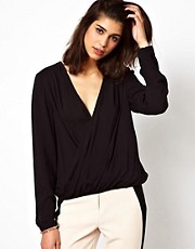 Selected Drape Wrap Top