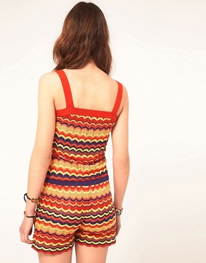 Image 2 ofASOS Zig Zag Playsuit