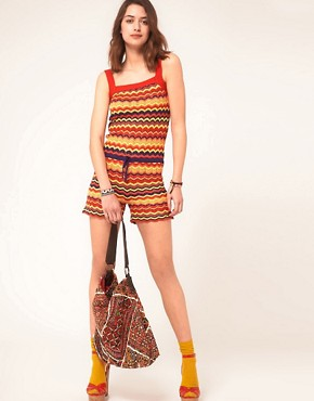 Image 4 ofASOS Zig Zag Playsuit