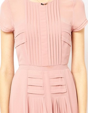 Image 3 ofWarehouse Pleated Skirt &amp; Bodice Midi Dress