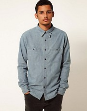 Replay Shirt Chambray Worker Long Sleeve