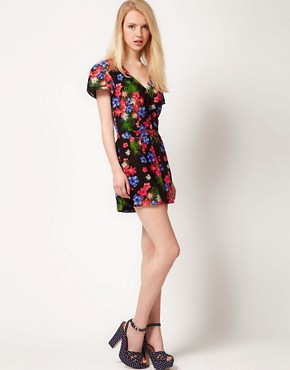 Image 4 ofA Wear Print Wrap Playsuit