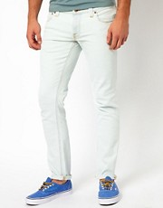 Nudie Jeans Tight Long John Skinny Fit Bleach White