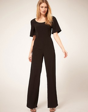 Image 2 ofASOS PETITE Exclusive Jumpsuit With Cross Back Detail